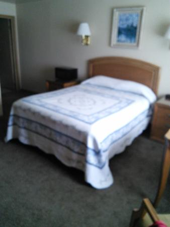 Bristlecone Motel: Bed with quilt