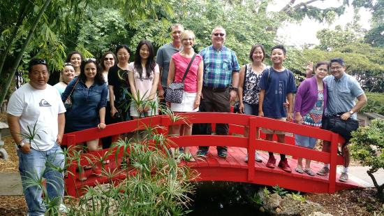 Miami Tour Company : Doing Miami To The Max! at the Japanese bridge at Miami Beach Botanical Garden -