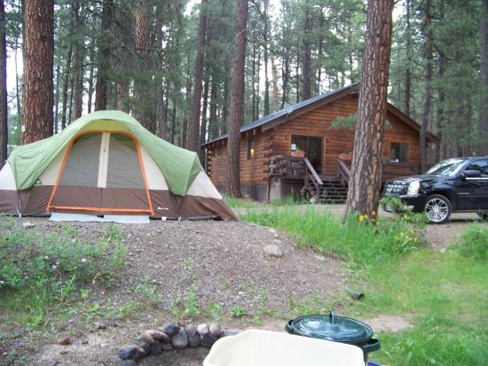 Sportsman's Campground and Mountain Cabins: Site #3 and the lodge
