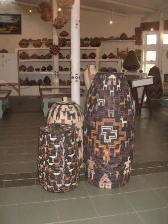Eshowe, Güney Afrika: New style of Zulu baskets