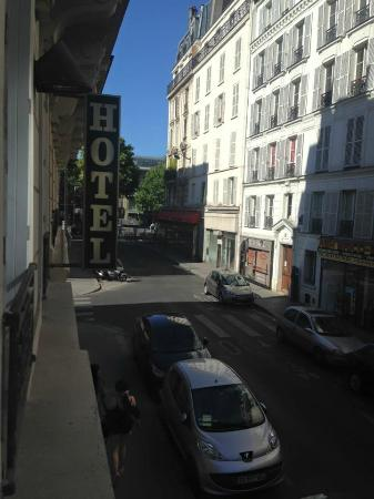 Hotel Pierre Nicole: view from the first floor at the font of the hotel