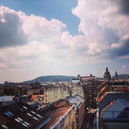 Medosz Hotel: View from luxury corner suite, the terrace