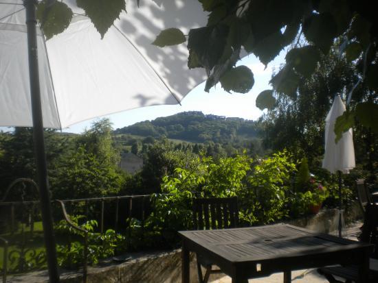 La Chanceliere: Utsikt från altanen mot Sancerre
