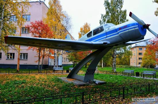 Monument to Plane YAK-18T