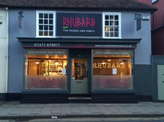 Rhubarb: our new frontage