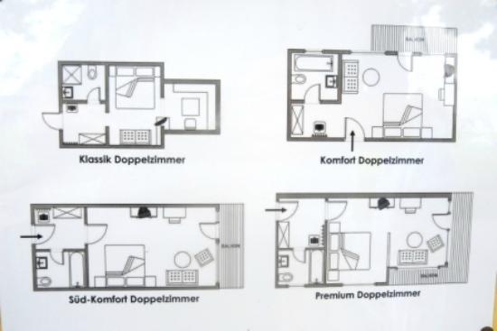 Hotel Imbery: Zimmertypen