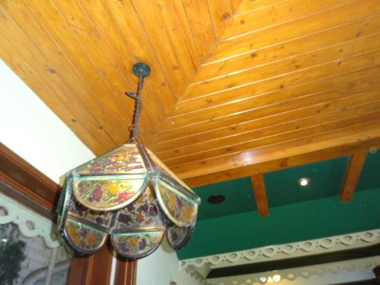 Nahar's Nilgiris Hotel: interesting lamp shade