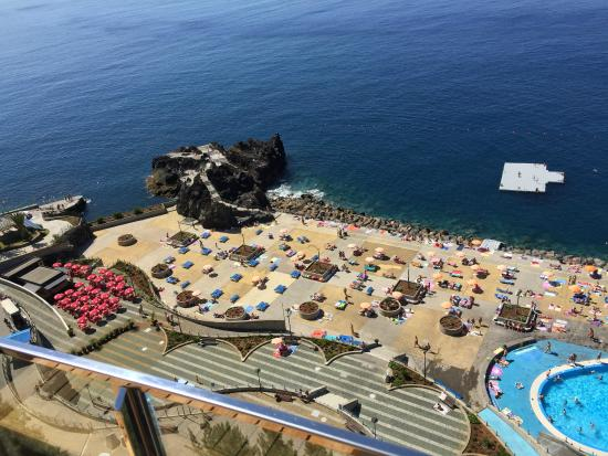 Madeira Regency Cliff: View from our balcony down to the Lido below (5eur entry)
