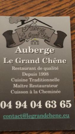 Restaurant le Grand Chene: Le grand chêne...