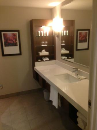 Coffee area mirror front entrance of room picture of delta hotels montreal montreal - Bathroom mirrors montreal ...