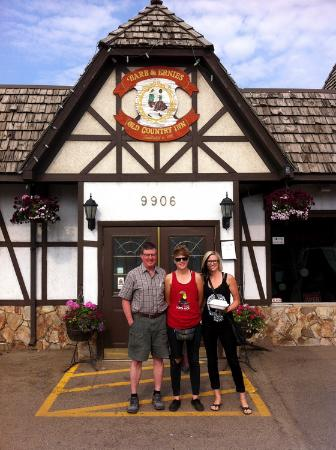Barb and Ernie's Old Country Inn : Us outside the restaurant