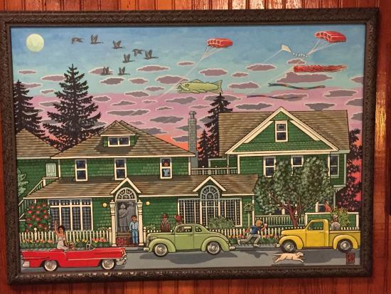 Shelburne Inn: Painting of hotel