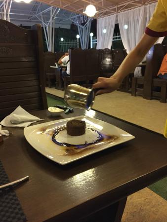 Osh, Kirguistán: шоколадный фондан