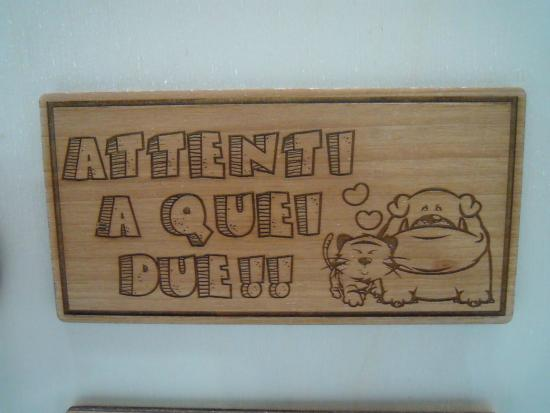 Popolare Targhe in legno personalizzabili a piacere!! - Foto di Ossoli  CB12