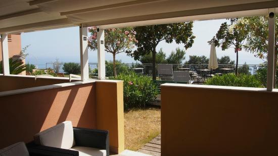 Hotel Mondial: Outlook from room/undercover area