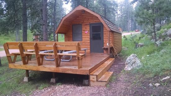 Custer State Park Campgrounds: The exterior of Cabin #6