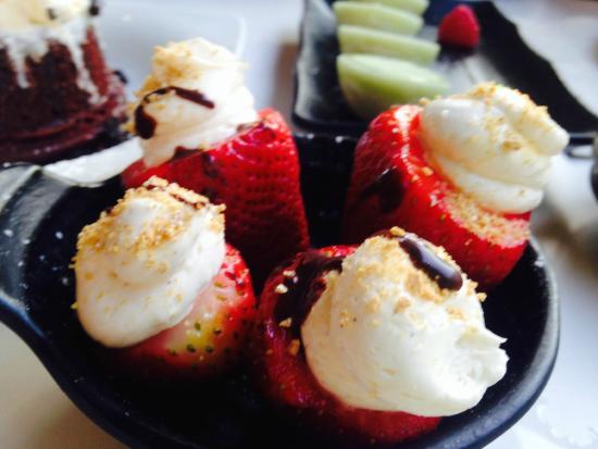 Katsuya - Glendale - SBE : Stuffed strawberry for dessert