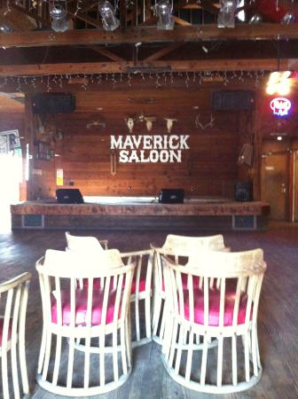 Hayloft Grill at the Maverick: the great room