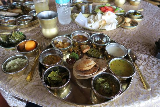 Aamby Valley City : Vegetarian thali at Manuhar, the best I have eaten