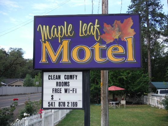 Maple Leaf Motel : Right off the Highway