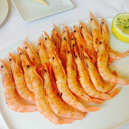 Restaurante Matteo: Gambas blancas de Huelva.