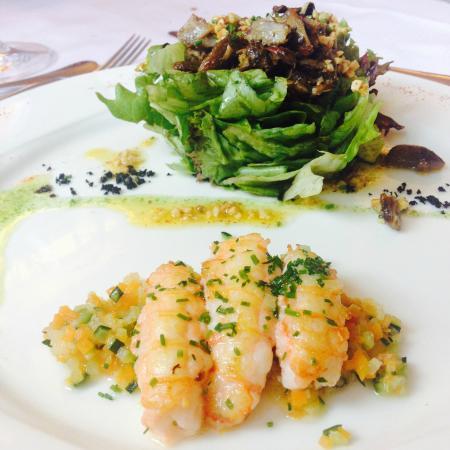 Restaurante Matteo: Ensalada de cigalas.