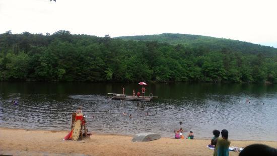 Lake at hanging rock nc one can swim here foto di for Cabine sospese di rock state park nc