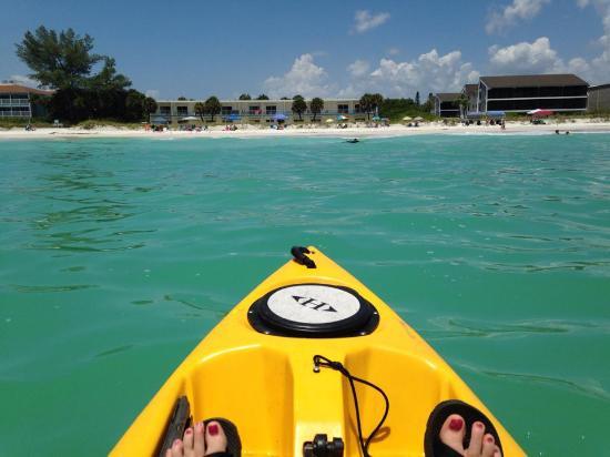 Bali Hai Beach Resort: Kayak View from the Gulf