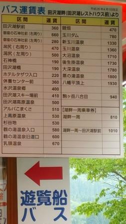 Mizusawa Onsen: Bus schedule @ the Lake Tazawako