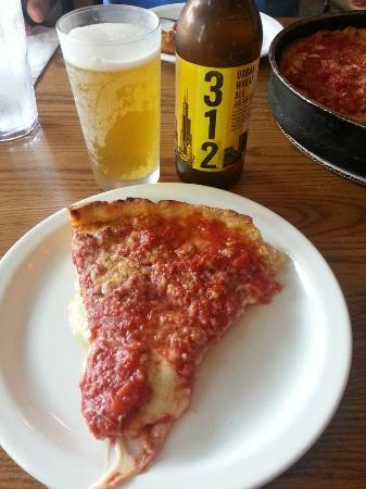 Lou Malnati's Pizzeria : Butter crust with sausage and pepperoni