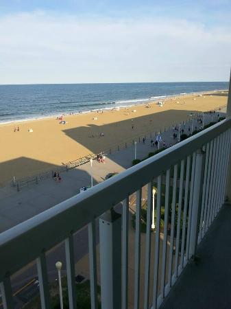 The Oceanfront Inn: A view from the balcony.