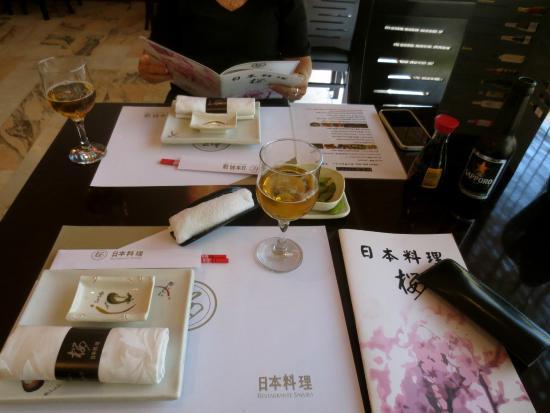 SAKURA Japanese Restaurant Table setting & Table setting - Picture of SAKURA Japanese Restaurant Seville ...