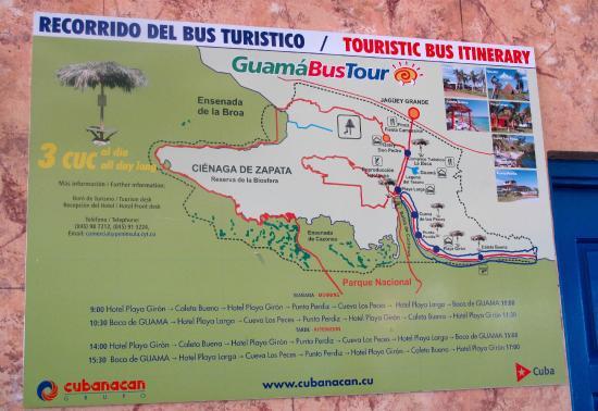 Kort Over Svinebugten Picture Of Hotel Horizontes Playa Giron