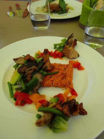 Saint-Pierre-la-Palud, Франция: plat principal végétal