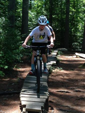 The Bike Farm: Kid's Bike Obstacle Course in DuPont State Forest
