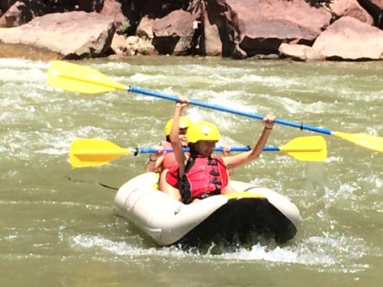 Dinosaur River Expeditions: kids enjoying time in the duckie