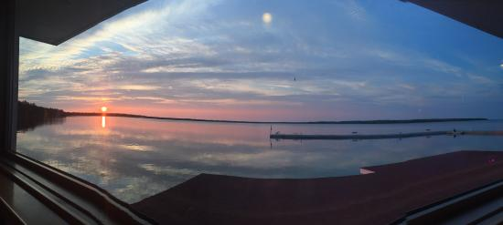 Baileys Harbor, WI: Our view during dinner at their Top Deck Restaurant