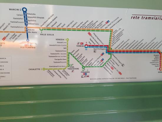 Rome tram map print this out Picture of Hilton Garden Inn Rome