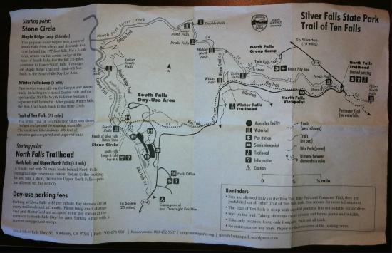Silver Falls State Park Oregon Map.Trail Map Pg 1 Picture Of Silver Falls State Park Silverton