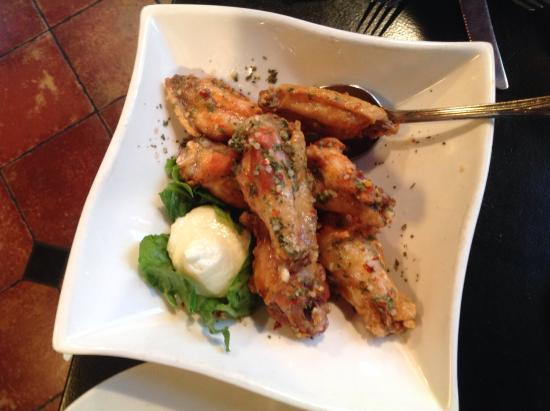 Nadim's Downtown Mediterranean Grill: Even chicken wings are transformed with lemon, garlic & middl eastern spices