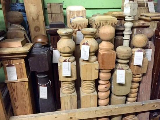 Southern Accents Architectural Antiques: Assorted newel posts