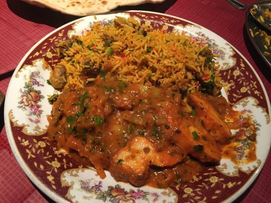 Gate of India: Chicken Korai & Mushroom Pilau Rice