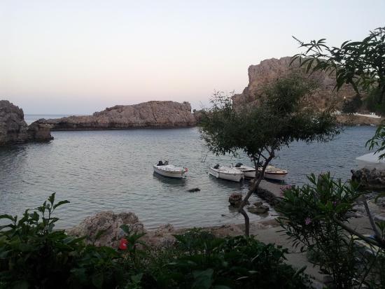 Dimitris' Beach Bar: Dinner view