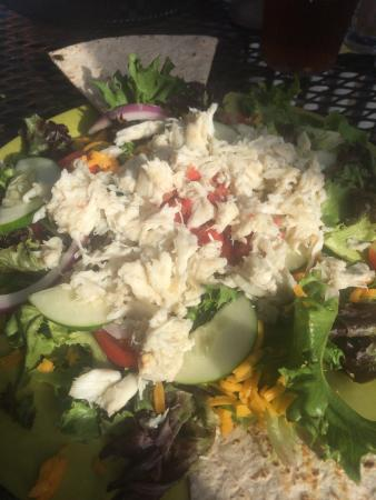 Queen Anne's Revenge: I got the crab taco salad.  Lots and lots of crab.  It looked delicious… But honestly tasted a l