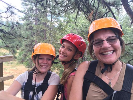 Zip Yosemite: Reace, Riley, Ruth having a blast!