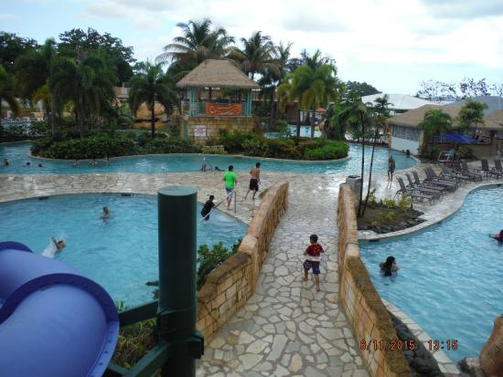 Mayaguez Resort & Casino: view from top of slide to the river pool