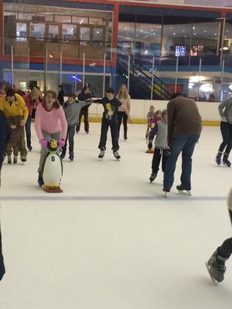Silver Blades Ice Rink: Learning to skate with Mr penguin