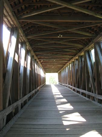 The Black Covered Bridge: Looking north