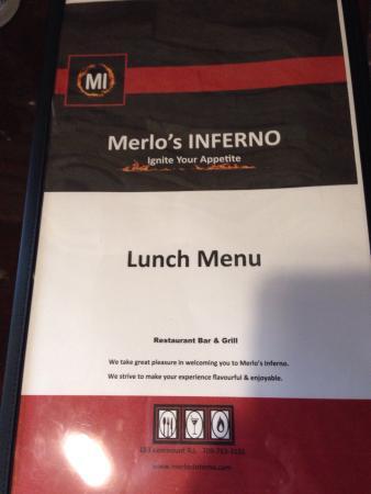 merlos inferno lunch buffet
