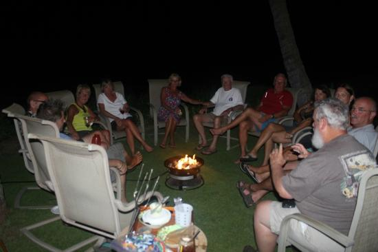 Kihei Sands Beachfront Condominiums: weekly campfire - roasting and visiting